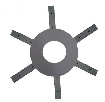 Головка ветродвигателя для крепления лопастей