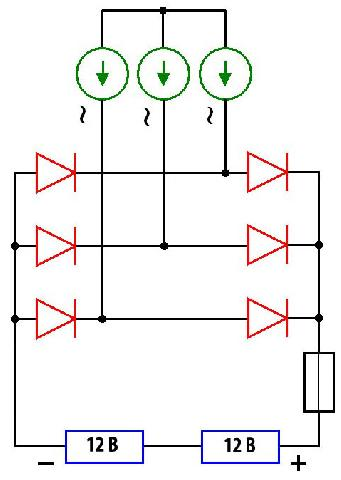 Простейщая электрическая схема для ветряной электростанции