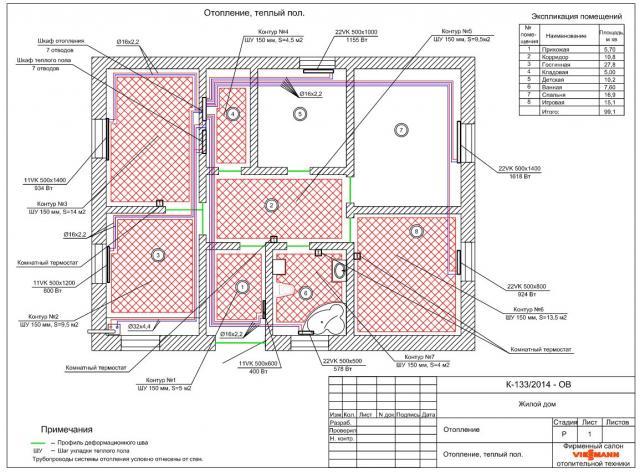 Рис.1 План-схема дома