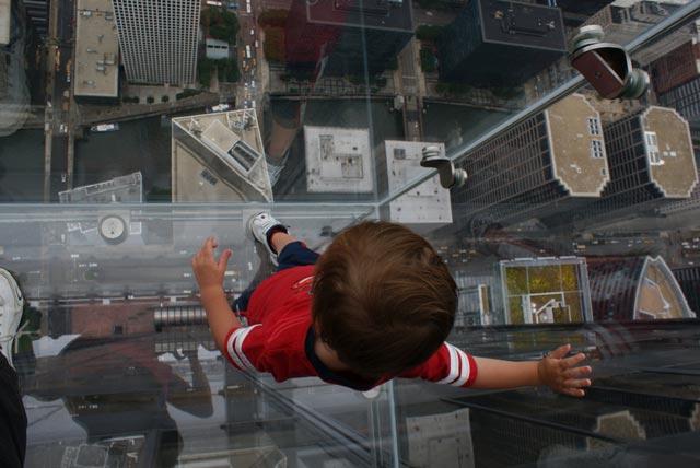 Балкон на 103 этаже небоскреба в Чикаго