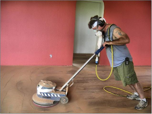 Вирівнювання підлоги за допомогою шліфувальної машини