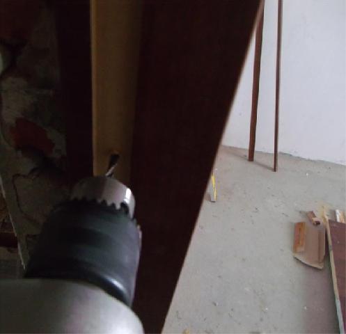 Сверление дверной коробки