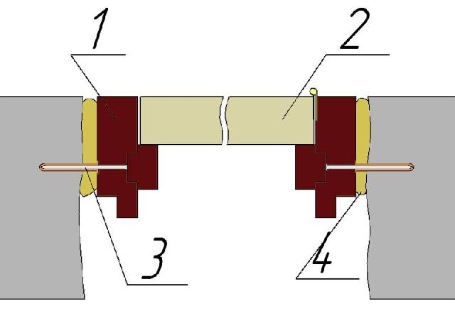 Крепление дверной коробки в