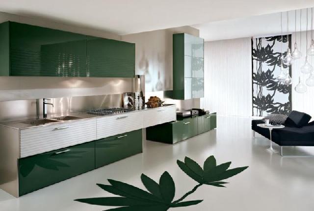 Коммерческий линолеум хорошо подойдет для вашей кухни