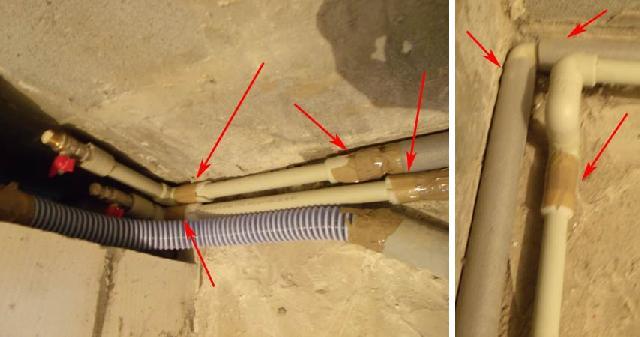 При бетонировании полипропиленовых труб следует предусмотреть их термическое расширение в бетоне