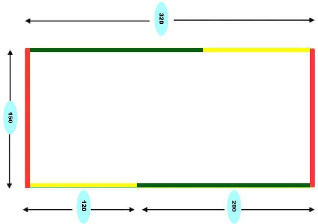 Схема зшивання двох полотен гамака
