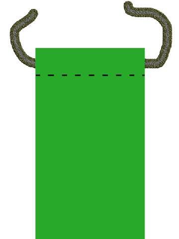 Продеваем шнур для подвешивания гамака