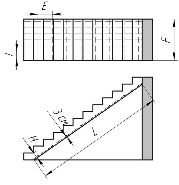 Схема армирования монлитной