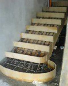 Бетонная лестница для дома своими руками
