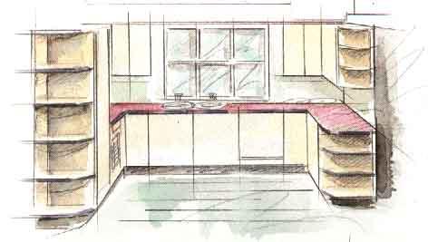 Дизайн интерьера кухни - Дизайн U-образной кухни