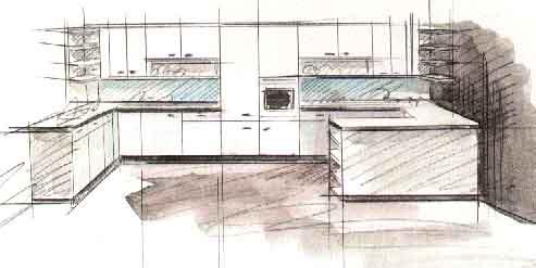 Дизайн интерьера кухни - Дизайн полуостровной кухни