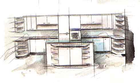 Дизайн интерьера кухни - Дизайн островной кухни