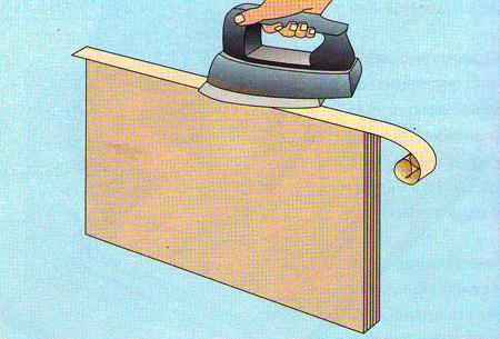 Меблева стрічка, для обклеювання кромок фанери