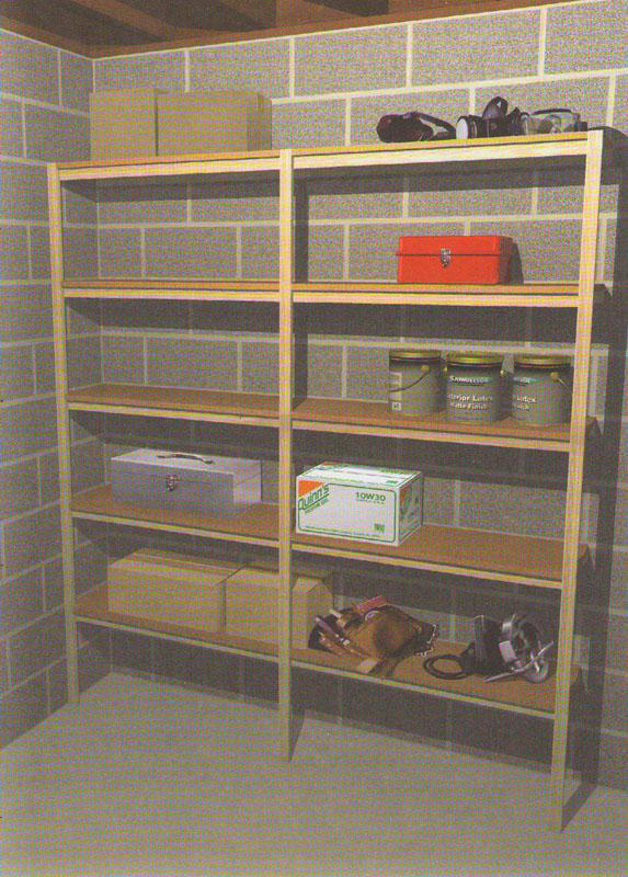 как сделать полки и стеллажи для гаража