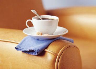Чищення м'яких меблів від кави