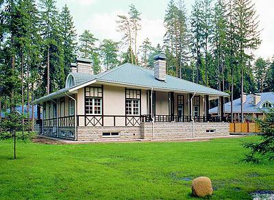 Одноэтажный дом для строительства
