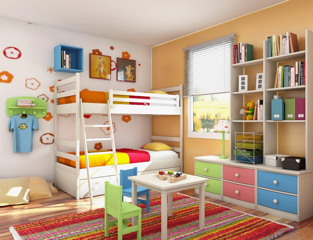 Для полноценного развития детей, детская комната должна быть радостной и интересной