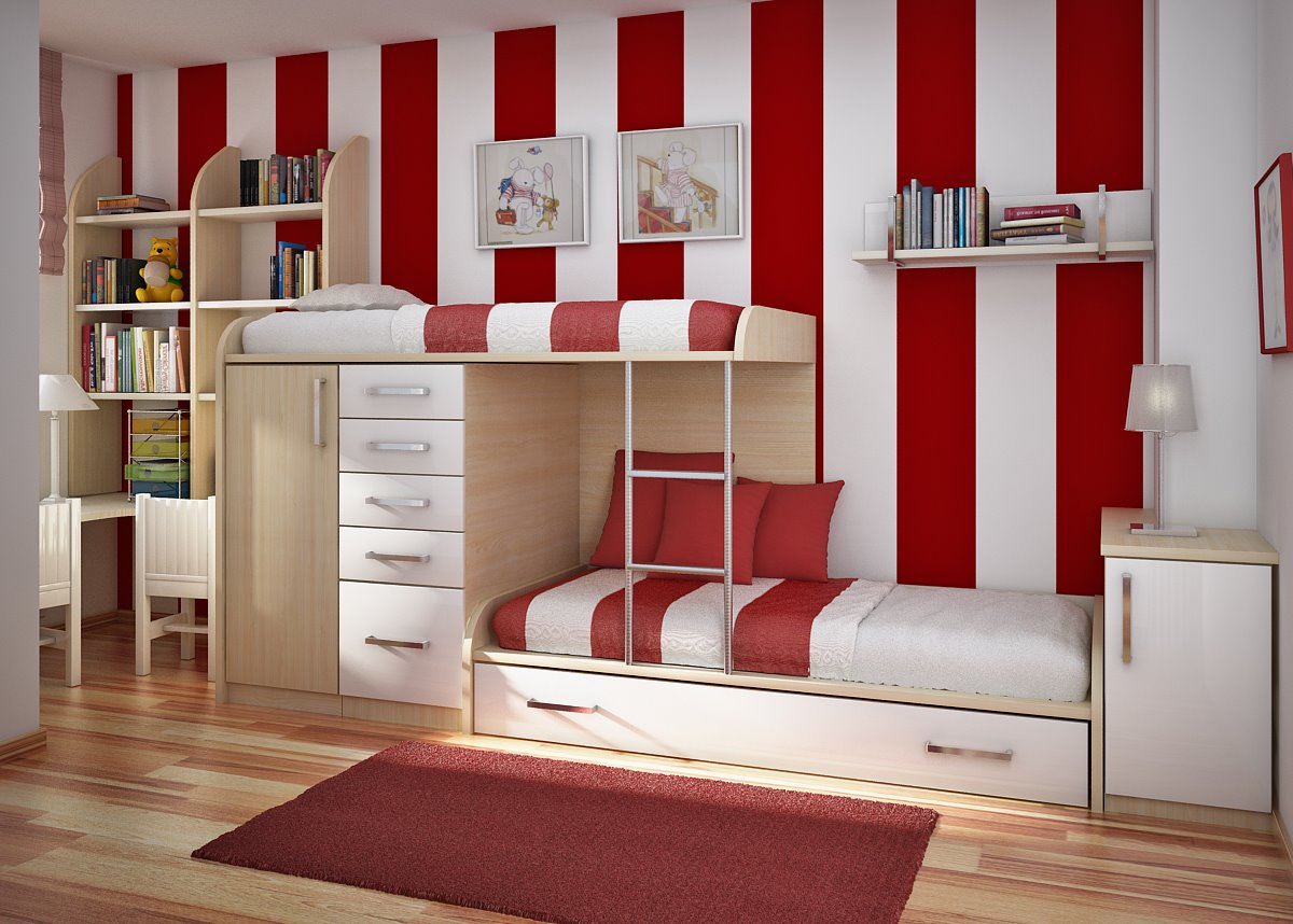 Комната для девочки имеет определенную тенденцию к минимализму