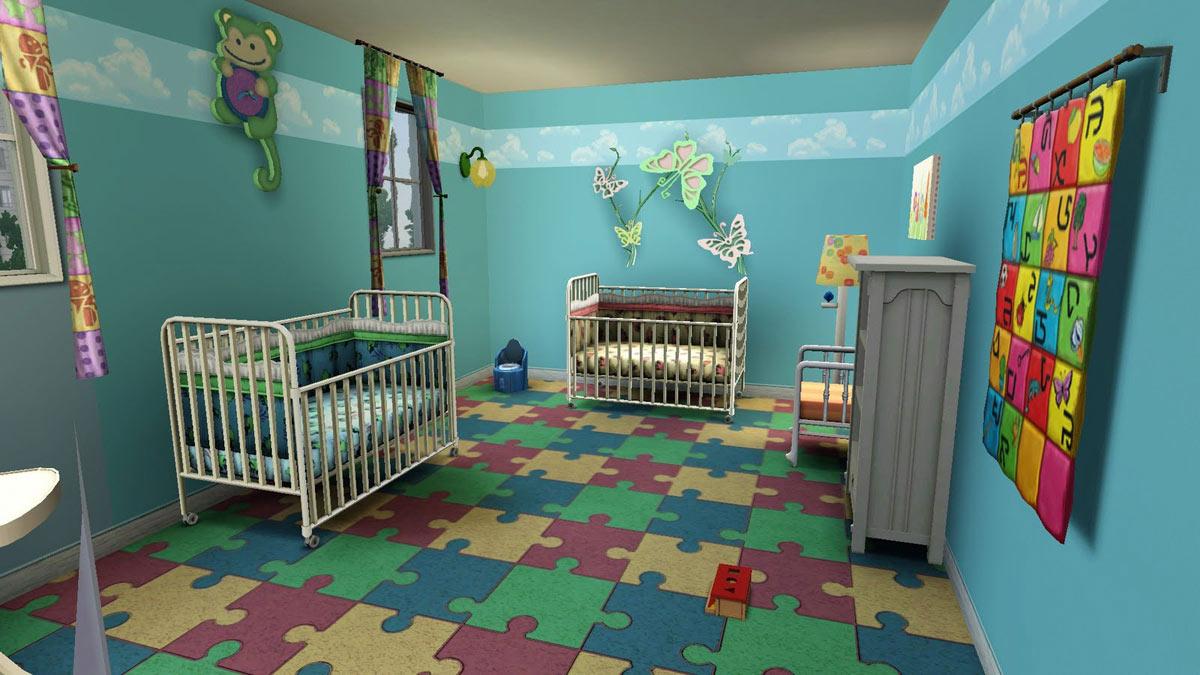Пример интерьера детской комнаты для двоих младенцев