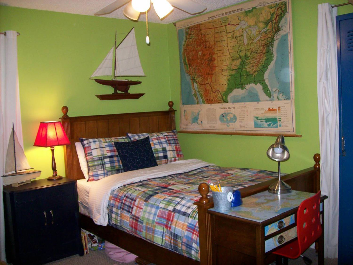 Традиционную детскую комнату можно всегда оформить оригинально