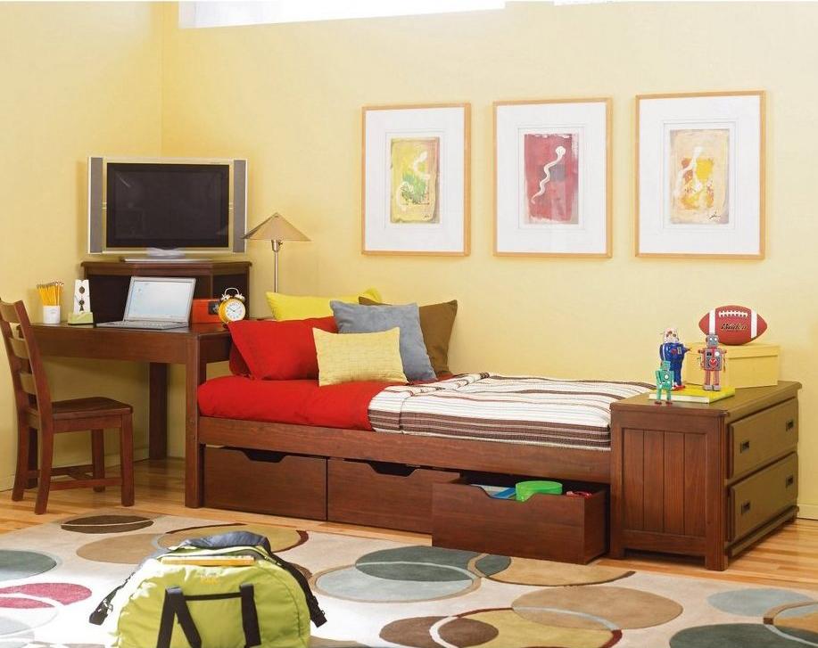 Пример мебели для детской комнаты из дуба