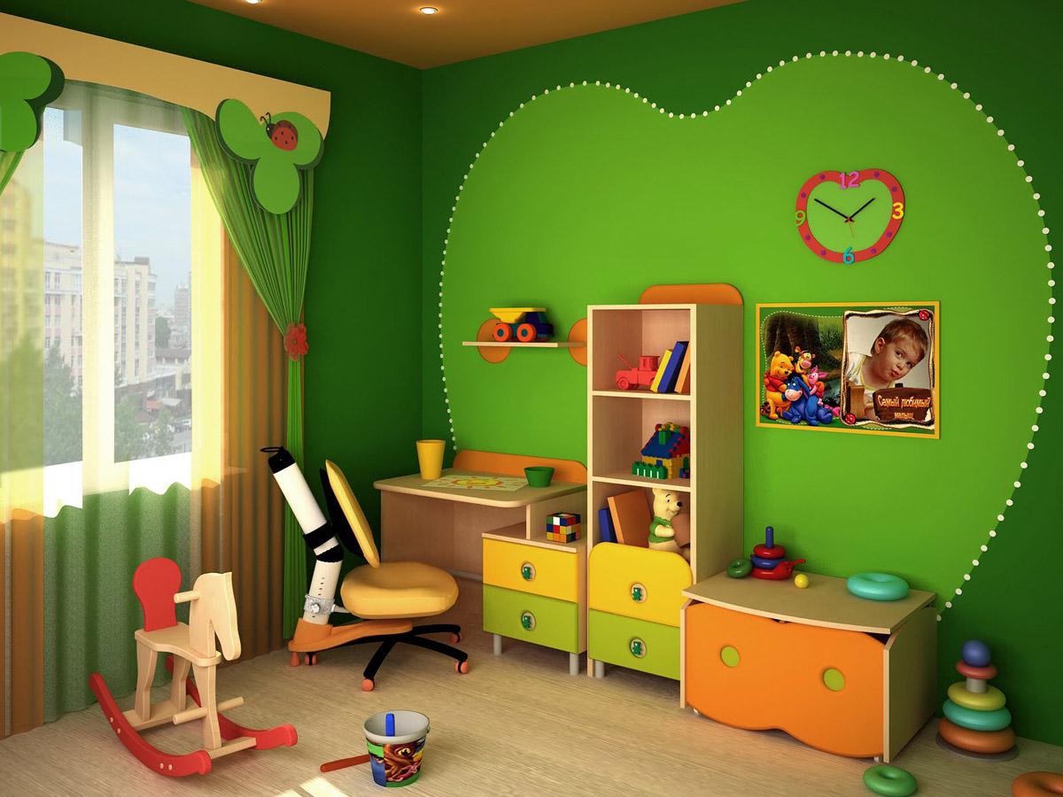Для детей яркие цвета в интерьере комнаты очень важны