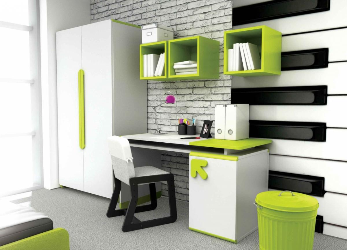 Такое цветовое решение подходит для комнаты подростков, но не маленьких детей
