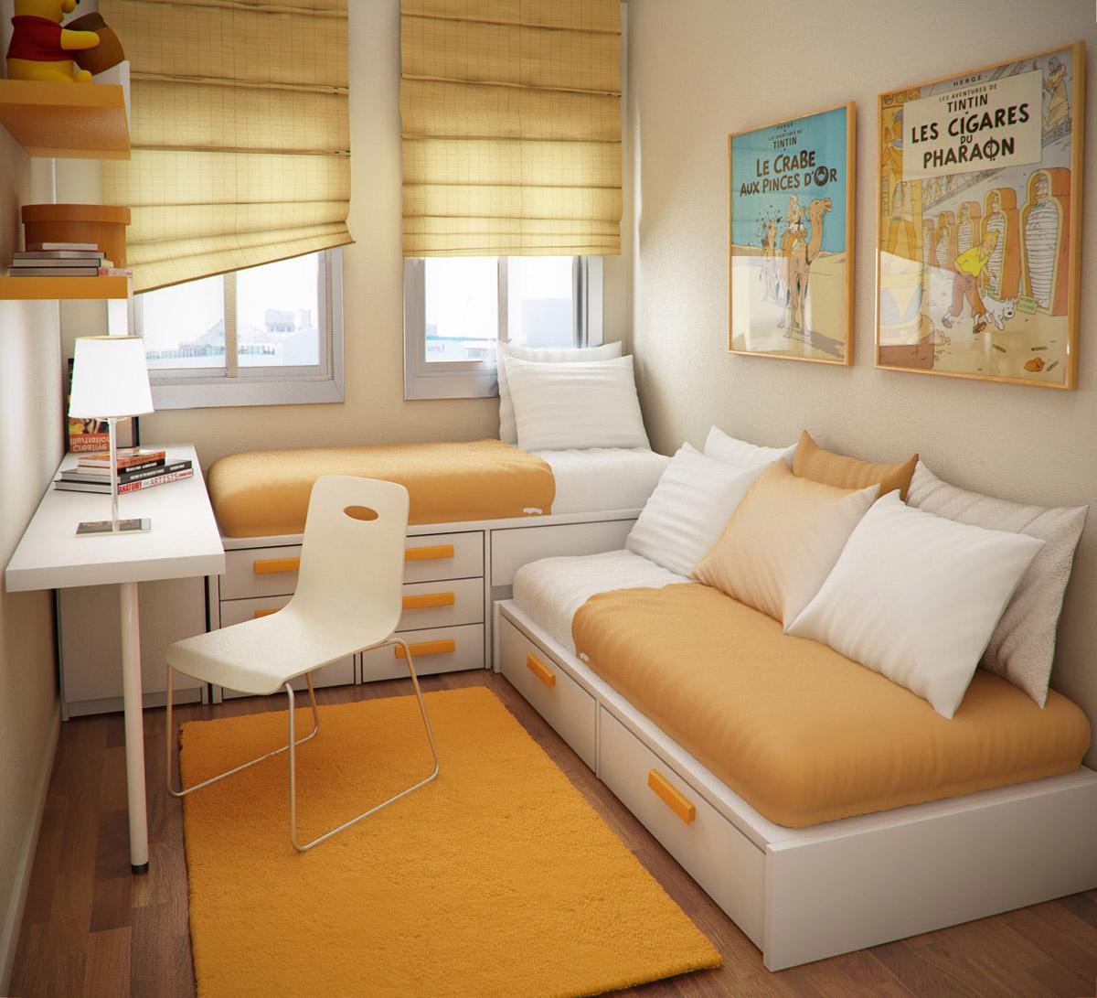 Детская комната малой площади для подростка