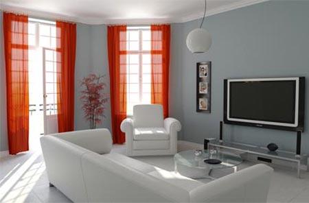 В данном случае размеры телевизора слишком большие, учитывая расстояние между ним и диваном