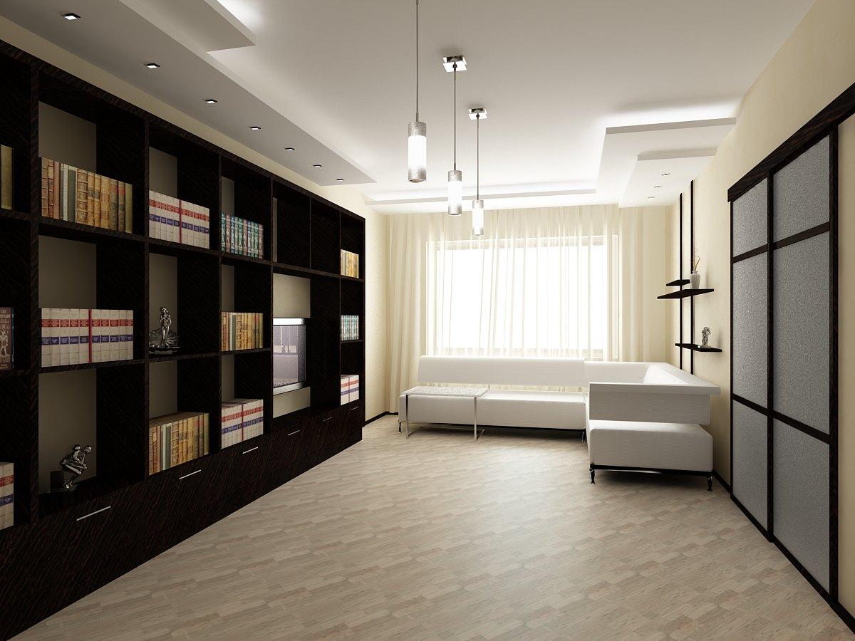 Пример неэффективного использования пространства гостиной большой площади