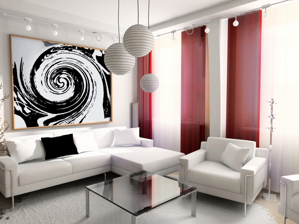 Китайские шторы не только практичны, но и прекрасно дополняют современный интерьер гостиной