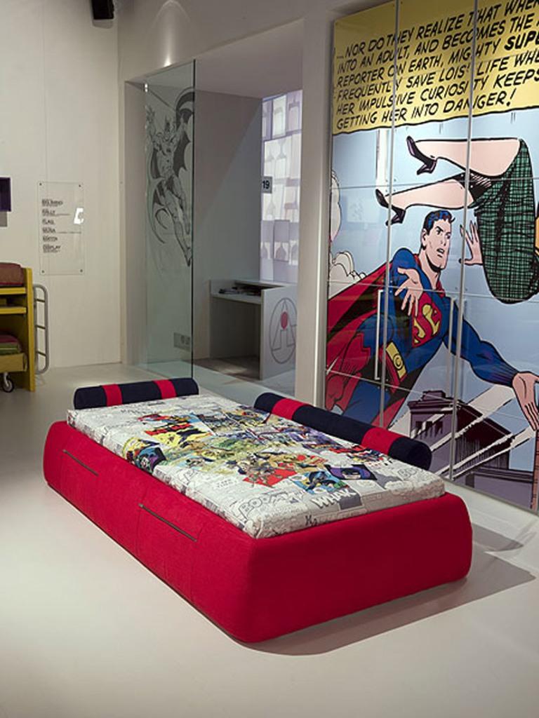 Детская комната для подростка на тему комиксов