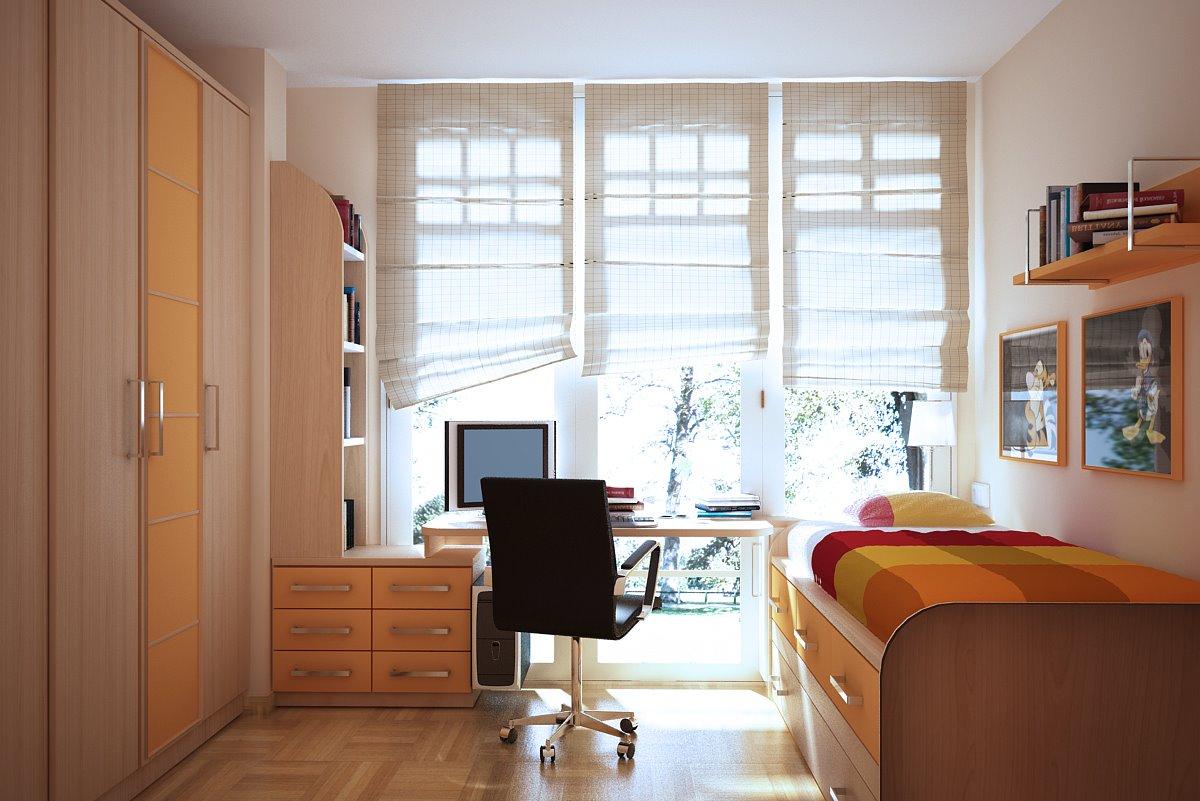 Пример дизайна детской комнаты, отвечающего потребностям подростка