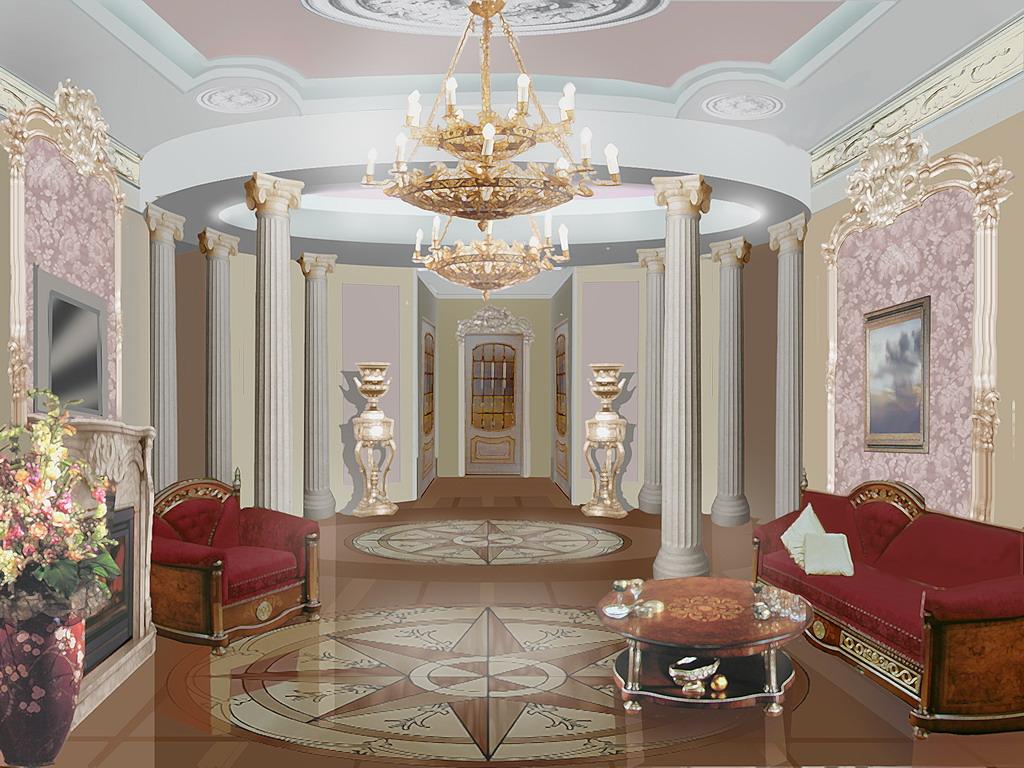 Фото оформление стен в стиле барокко.