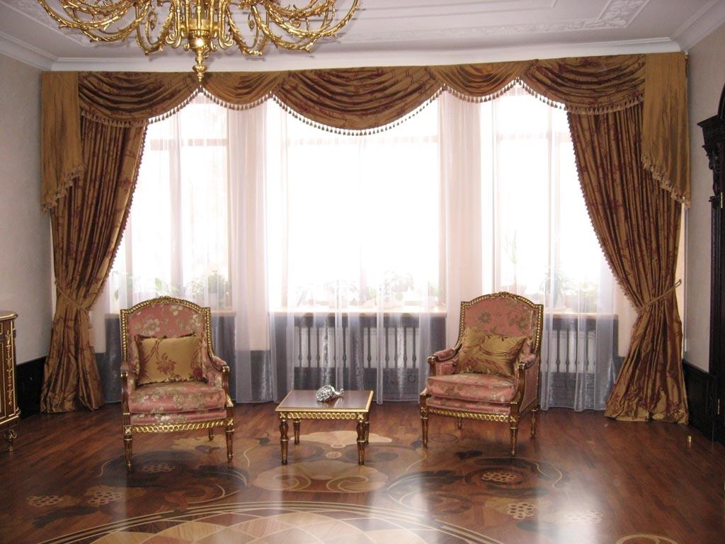 Шторы для гостиных фото классика