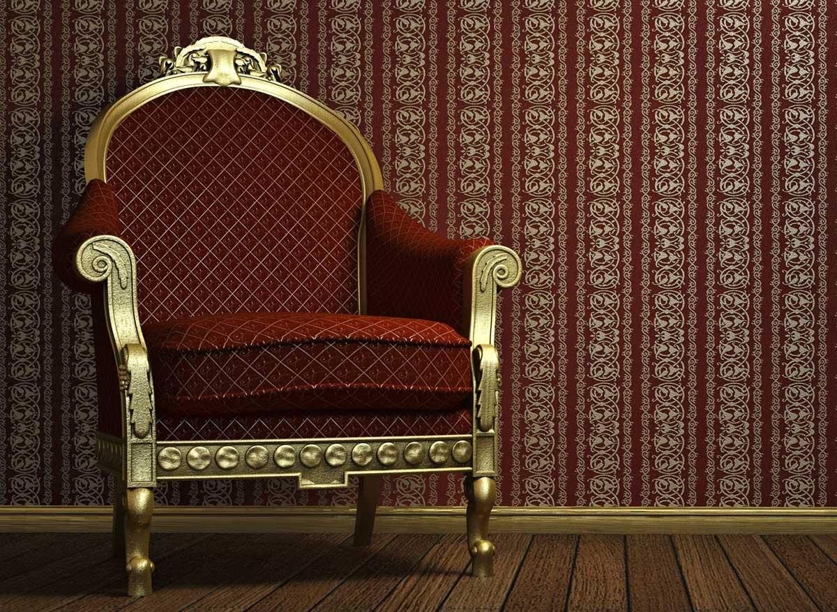 Жаккардная ткань часто используется в классическом стиле, благодаря своей долговечности и прочности
