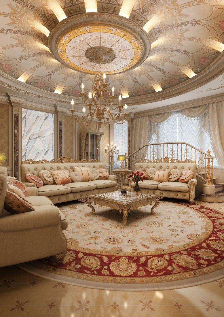 Классический стиль в интерьере гостиной — это престиж и роскошь