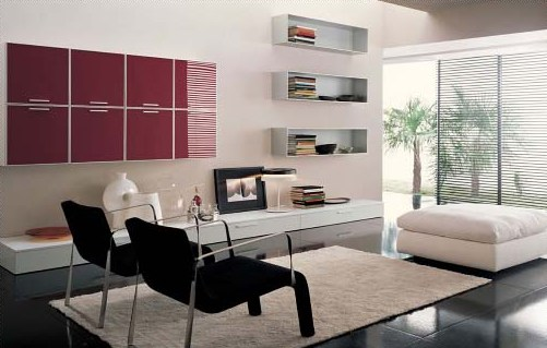 Пример стиля минимализм в гостиной
