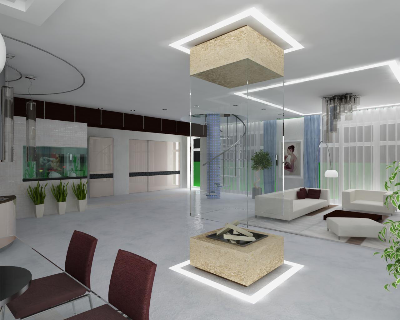 Гостиная в стиле минимализм должна быть без внутренних перегородок, иметь большую площадь