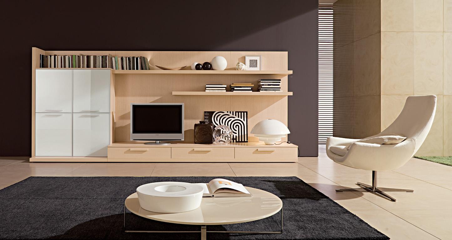 В гостиной в стиле минимализм не желательно использовать более пяти цветов