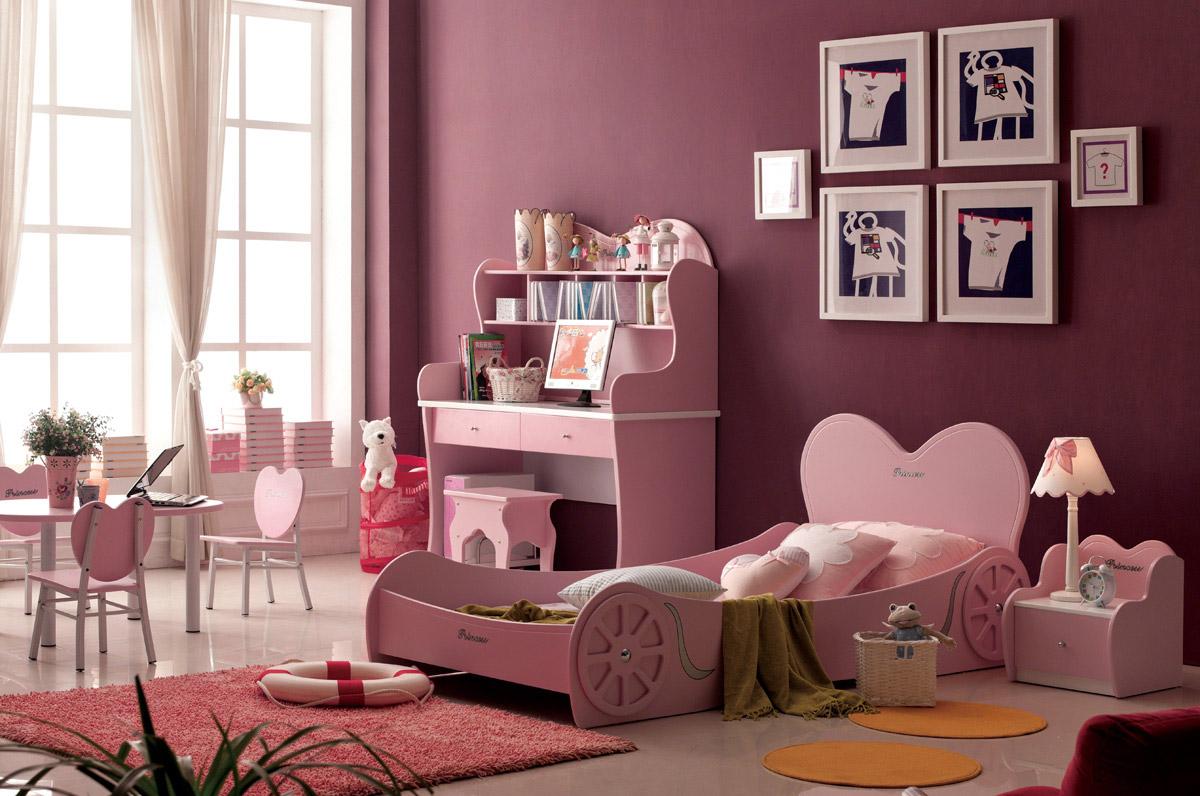 красивая розовая кровать-карета для девочки подростка, подходит до 16 лет. Весь дизайн, все рисунки по детской