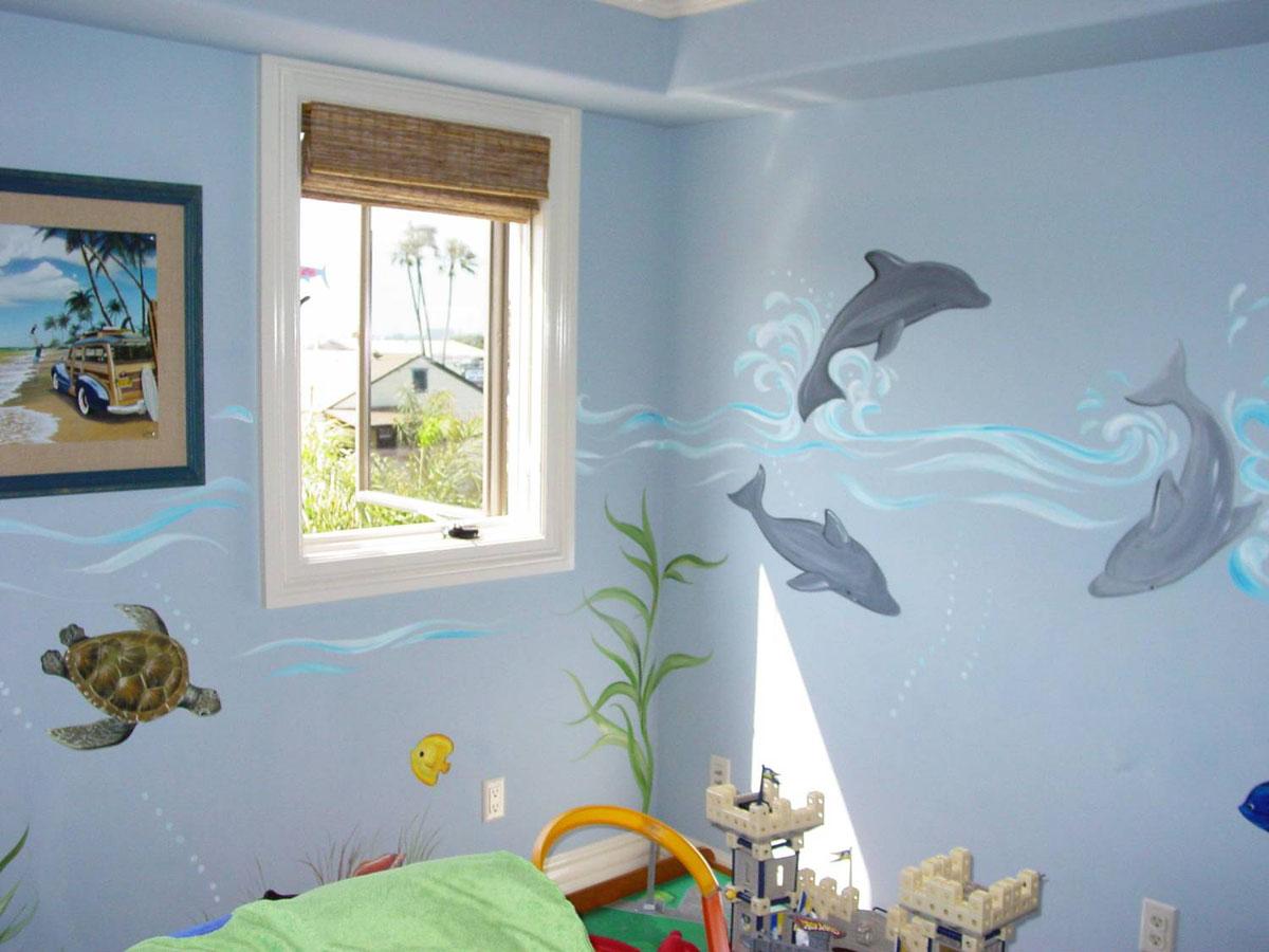 Детская комната для мальчика на морскую тематику