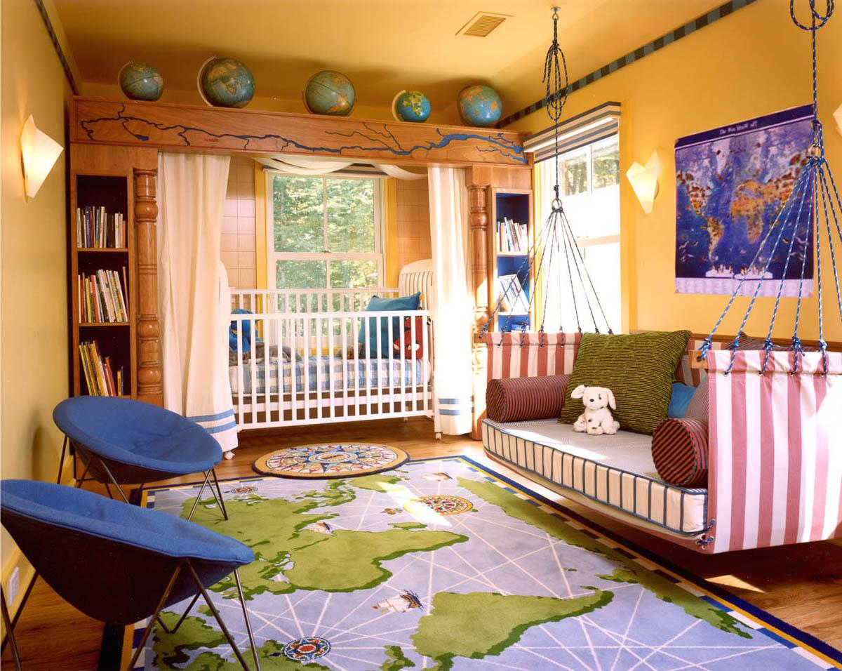 Вариант оформления детской комнаты в стиле палаточного городка