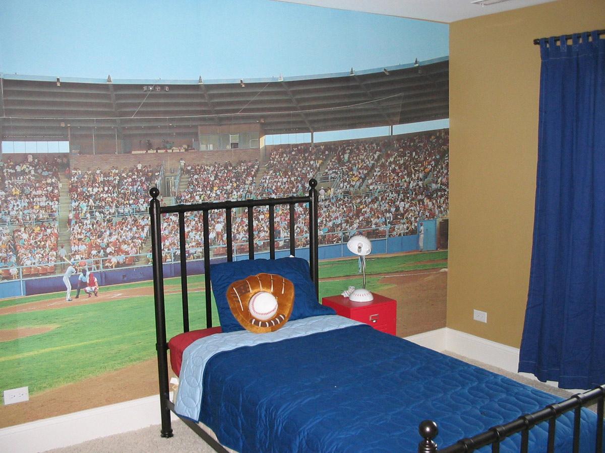 Дизайн комнаты для мальчика на спортивную тематику