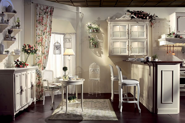 Кухня в стиле прованс в белой цветовой гамме