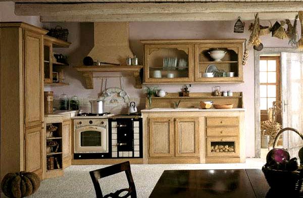 Кухонна плита и вытяжка стилизированные под стиль прованс