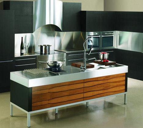 Кухня в стиле модерн может иметь прямые и строгие линии