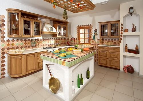 Островная кухня в украинском стиле