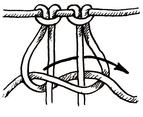 Первый узел для техники макраме