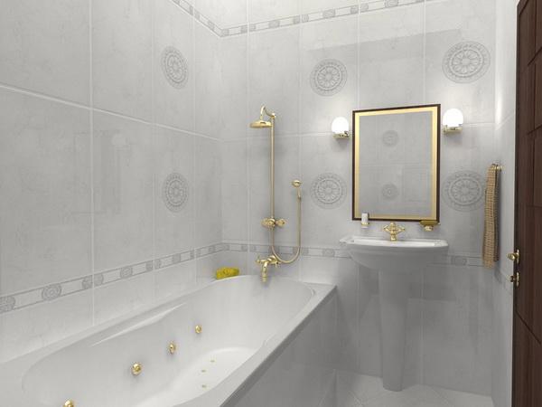 Маленькая ванная комната станет больше, если основным будет светлый цвет